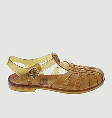 Sandale en PVC Chanvre