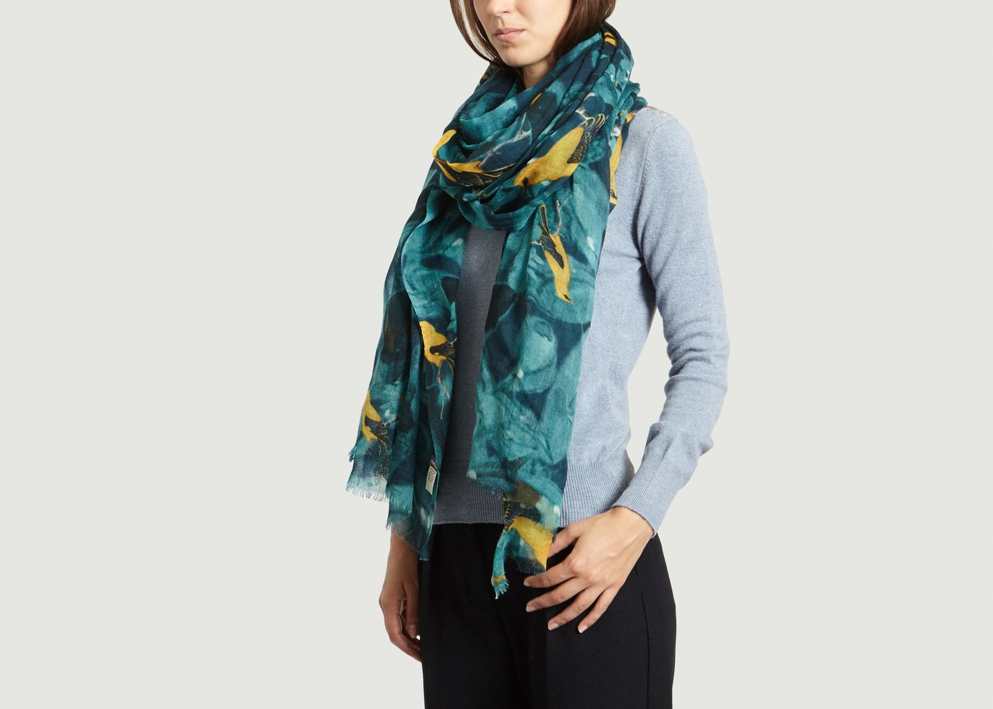 Yellow Birds Scarf - Meesha