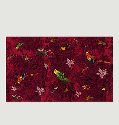 Foulard imprimé exotique en laine mérinos Manaus