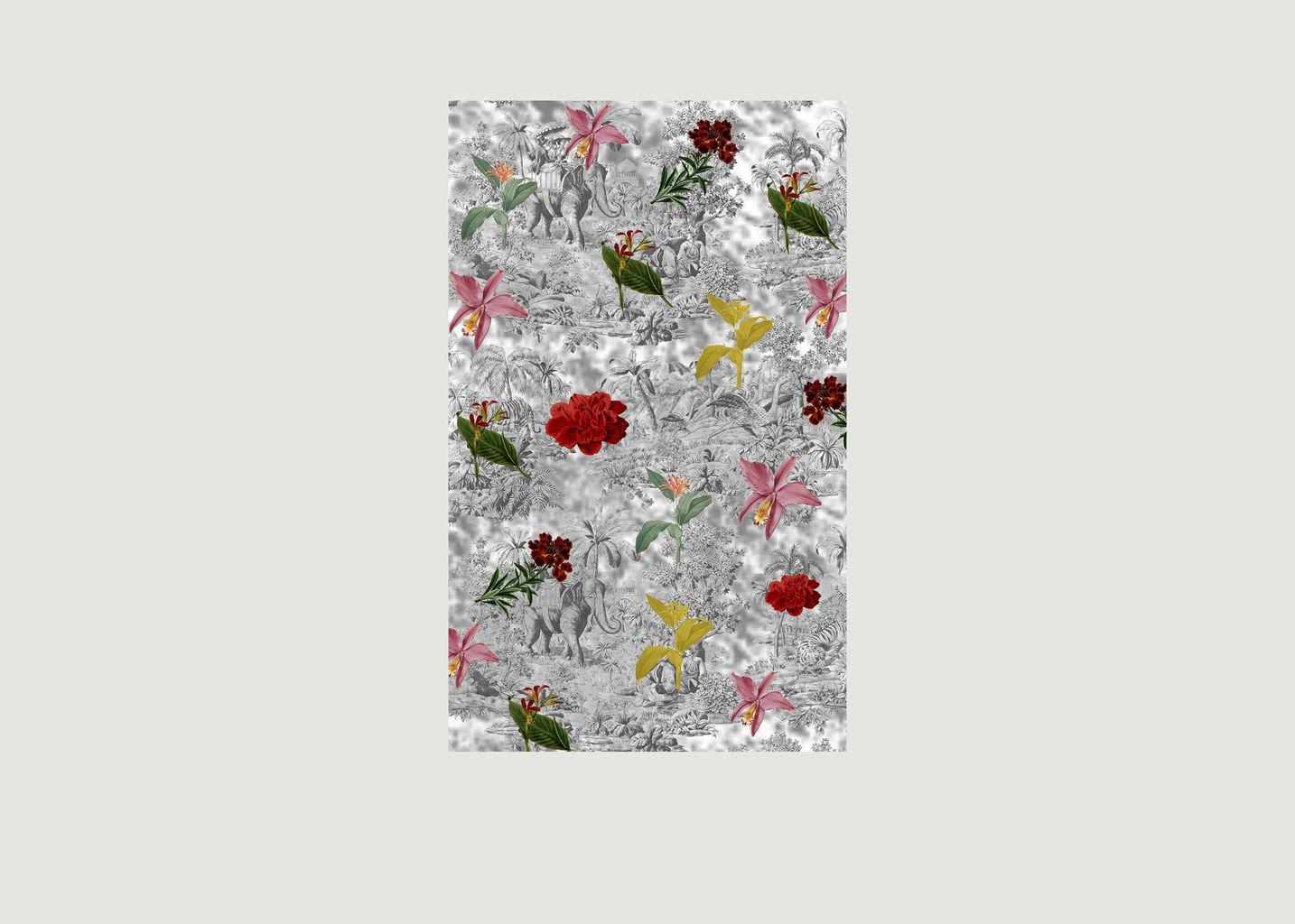 Foulard imprimé en laine mérinos Exotic Flowers - Meesha