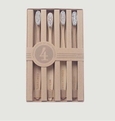 4 Brosses à Dents Bambou Mois de L'Année