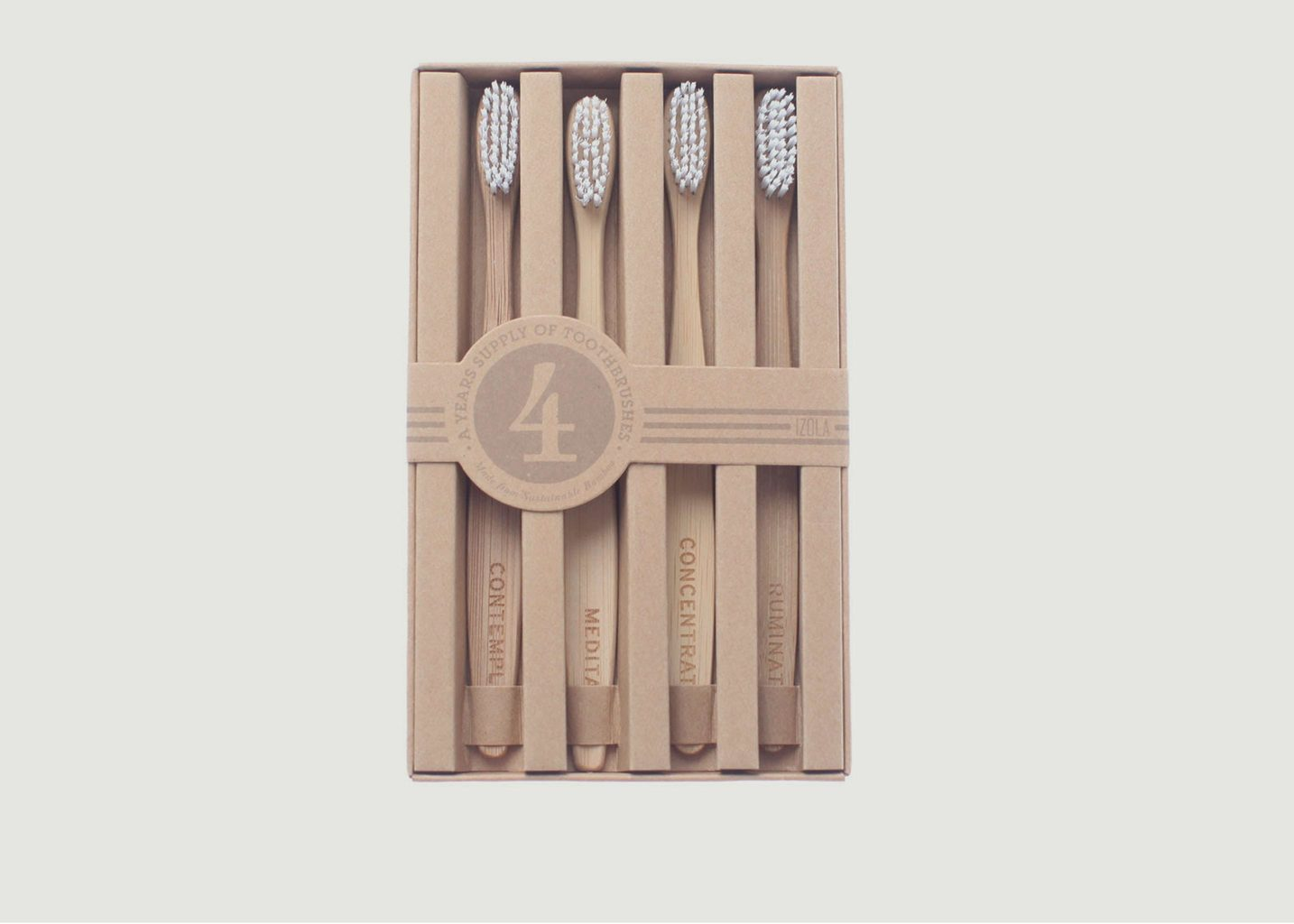 4 Brosses à Dents Bambou Mois de L'Année - Men's Society