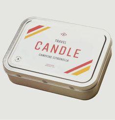 Bougie de Voyage Plate Campfire Citronella