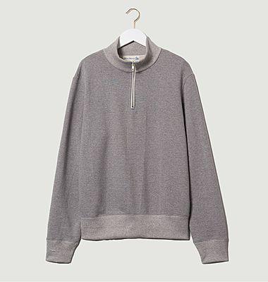 Organic cotton trucker collar sweatshirt