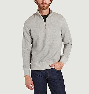 Sweatshirt col camionneur en coton bio
