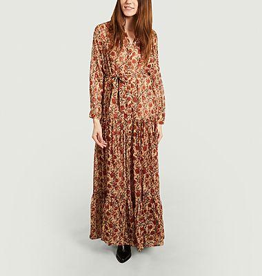 Robe longue chemise imprimé fleuri Glaieul