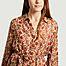 matière Robe longue chemise imprimé fleuri Glaieul - Mes Demoiselles
