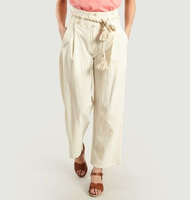 Pantalon Taille Haute Ceinturée Olympic