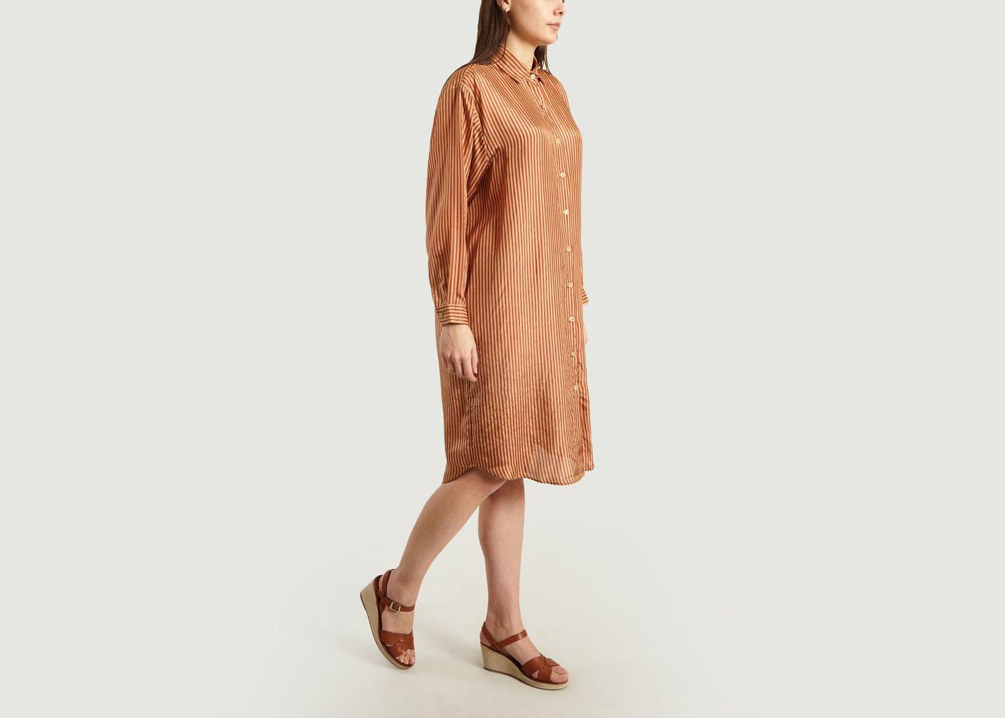 Robe-Chemise Rayée En Soie Bayard - Mes Demoiselles