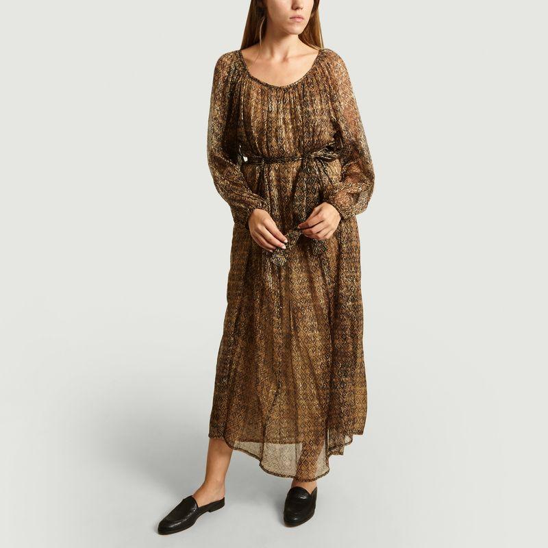 Robe Longue Raissa Voile Imprimé - Mes Demoiselles