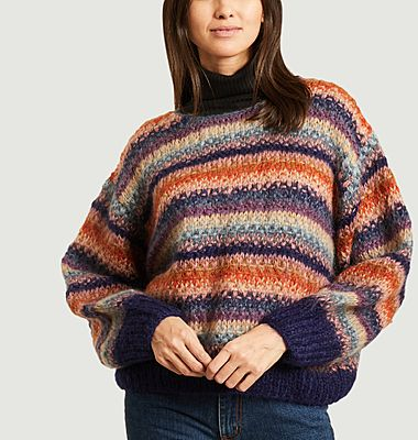 Pull Dolce à rayures multicolores