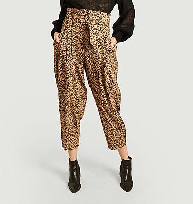 Pantalon Chery imprimé léopard