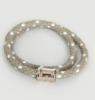 Bracelet Cuir Bicolore Casing