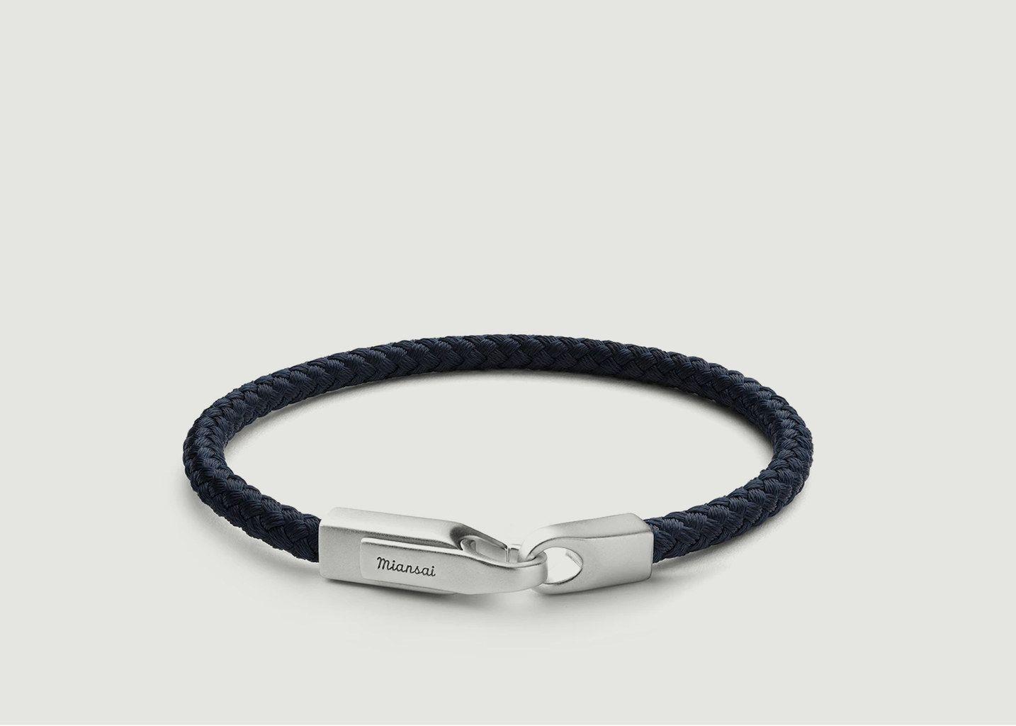 Bracelet Tissu Et Argent Crew Rope - Miansai