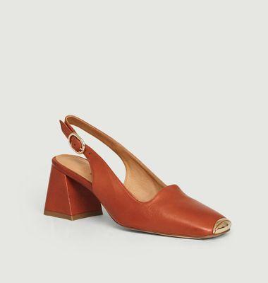 Sandales sling back bout métallisé Canar