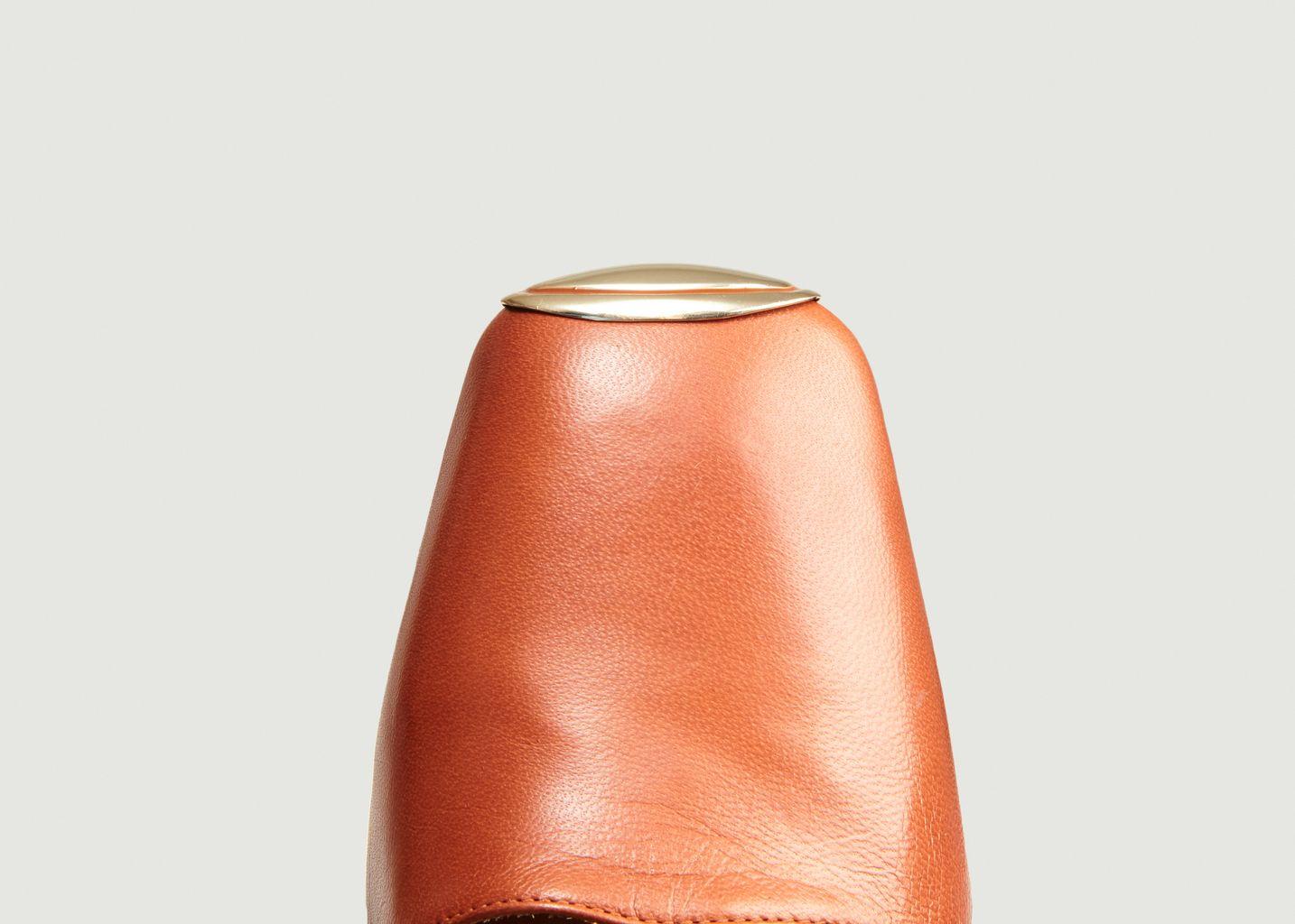 Sandales sling back bout métallisé Canar - Miista