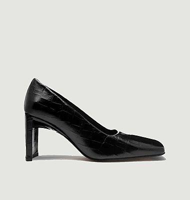 Alicja croco effect leather pump shoes