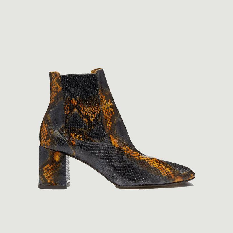 Boots en cuir façon serpent Beta Umber - Miista
