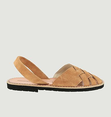 Avarca Compostelle suede leather sandals