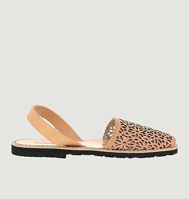 Sandales en cuir Avarca Moucharabieh