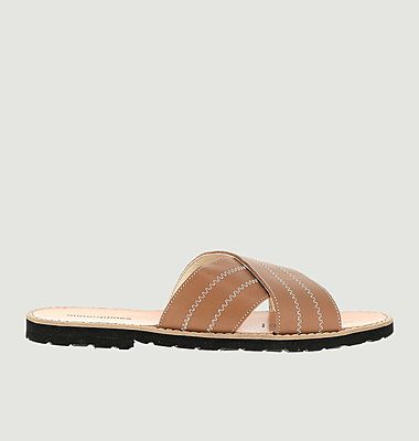 Avarca leather slippers