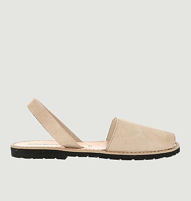 Sandales en nubuck Avarca