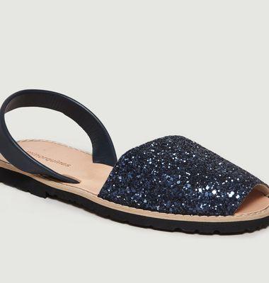 Sandales Avarca à Paillette Azul N°11