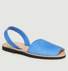 Avarca Ocean Blue Nubuck Sandals