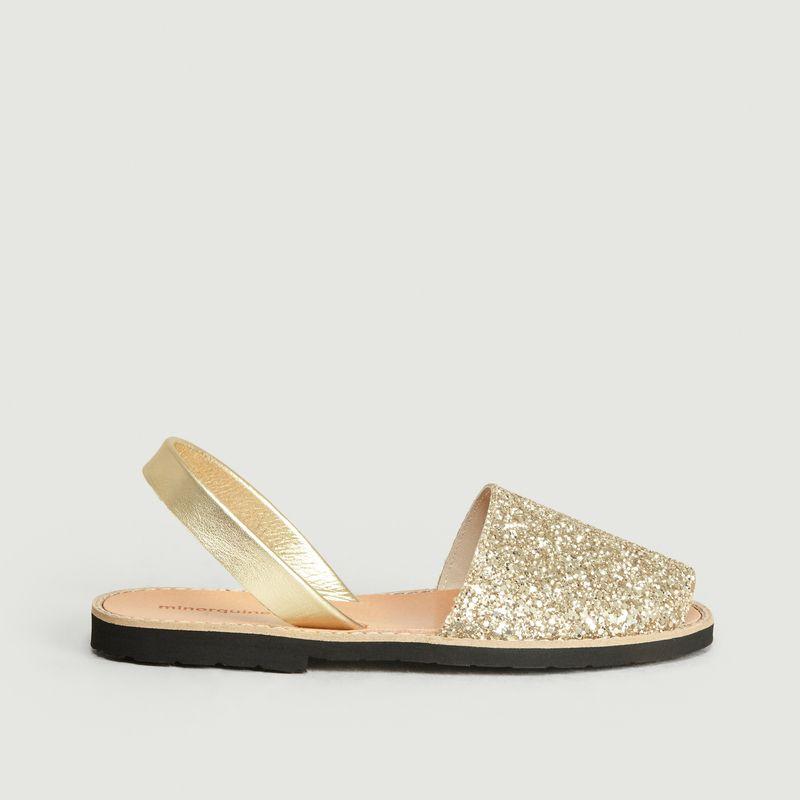 Sandales Avarca paillettes Oro - Minorquines