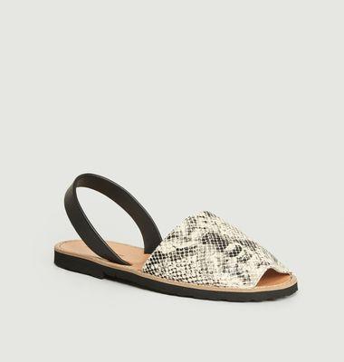 Sandales en cuir reptile Avarca