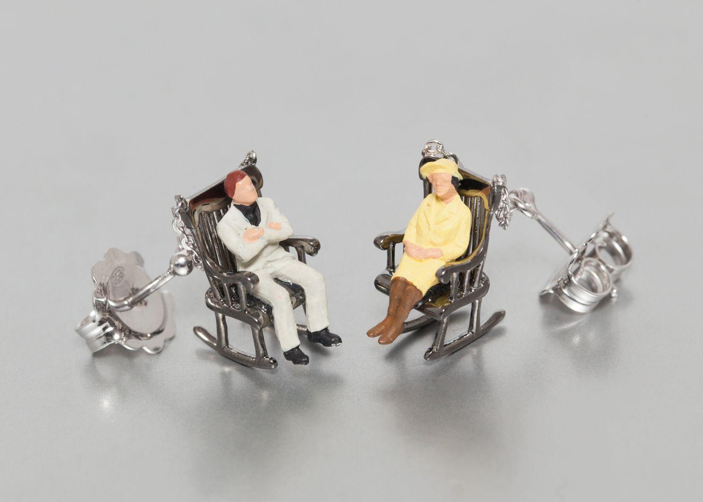 Boucles d'Oreilles Mini Personnages Spuntino - Miss Bibi