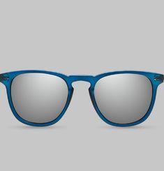 Lunettes de Soleil Bleu Acier