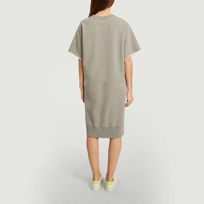 Bicolor midi sweatshirt dress - MM6 Maison Margiela