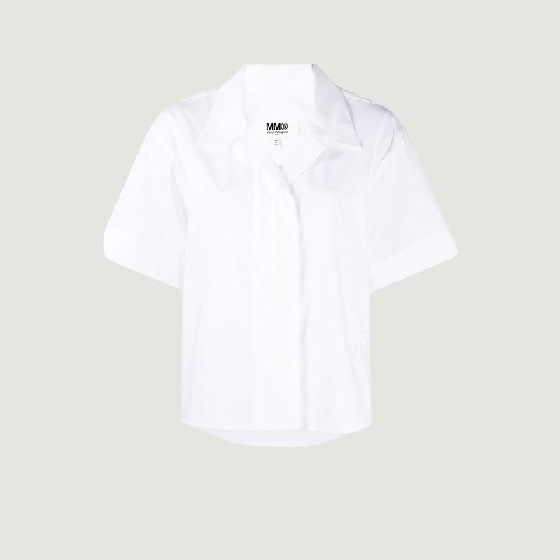Chemise manches courtes en coton - MM6 Maison Margiela