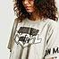 matière T-shirt cropped imprimé siglé motocross - MM6 Maison Margiela
