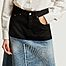 matière Jupe mi-longue en jean bicolore - MM6 Maison Margiela