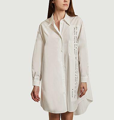 Longue chemise imprimée en coton