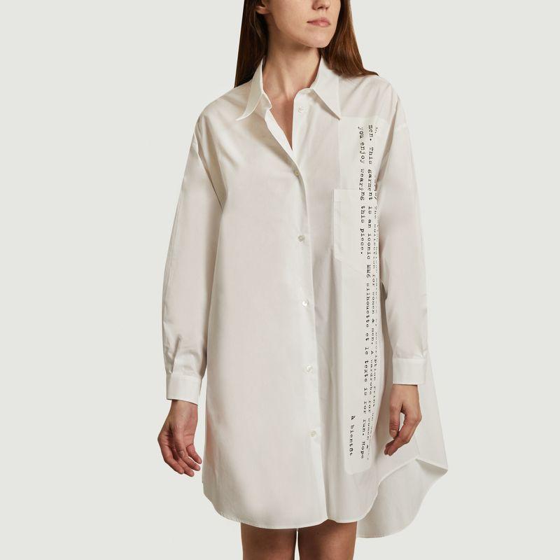 Longue chemise imprimée en coton  - MM6 Maison Margiela