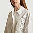 matière Longue chemise imprimée en coton  - MM6 Maison Margiela