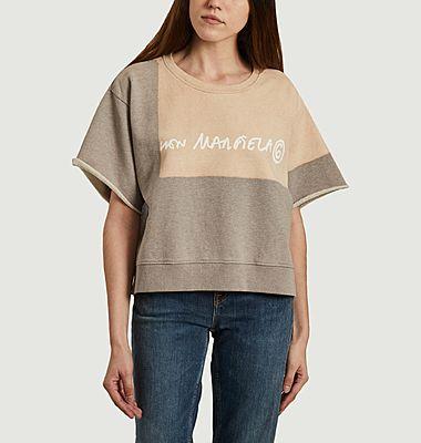 Sweatshirt court à manches courtes