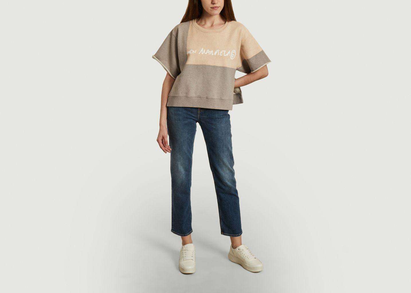 Sweatshirt court à manches courtes  - MM6 Maison Margiela