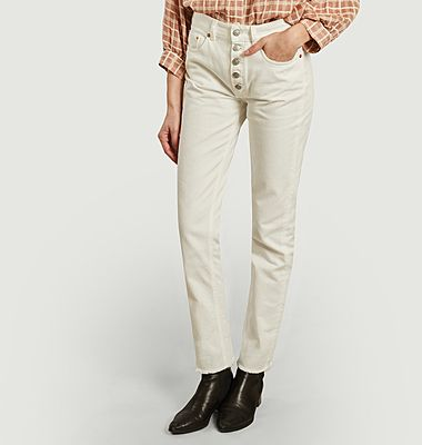 Buttoned tinted slim fit jeans