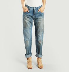 Stained Patchwork Jeans