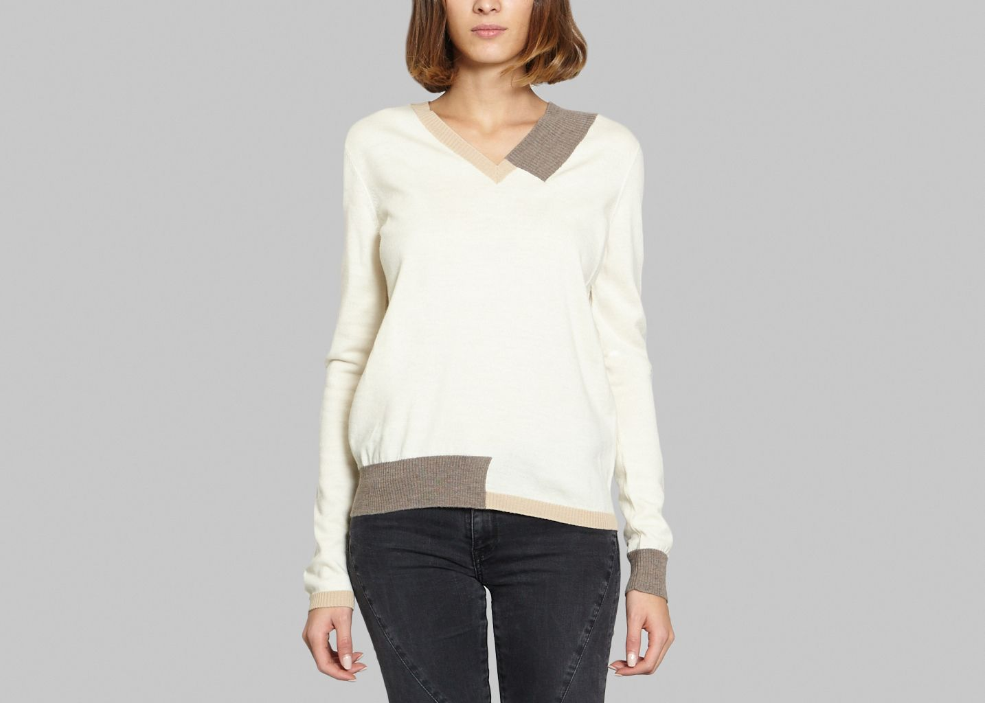 Pull Maille Petit Patchwork - MM6
