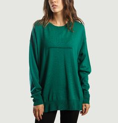 Pull Col Rond Oversized