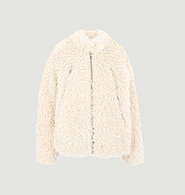 Jacket in fake sheepskin
