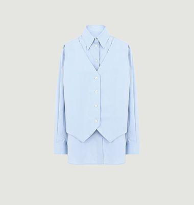 Poplin shirt and vest
