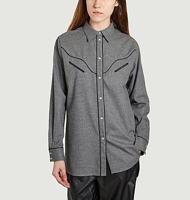 Chemise longue grise