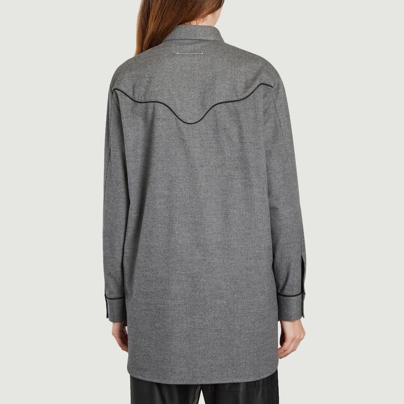 Chemise longue grise  - MM6 Maison Margiela