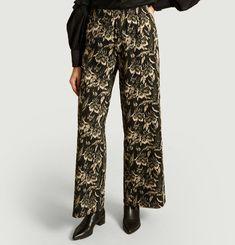 Pantalon Jacquard Fleurs